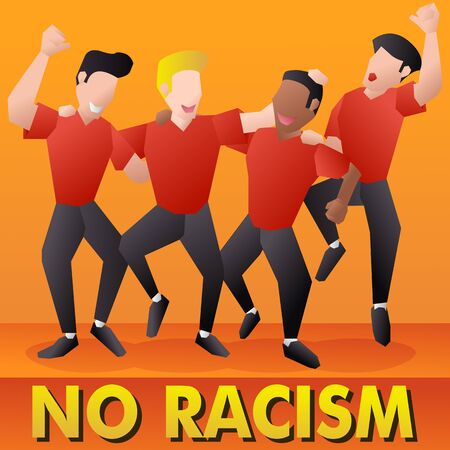 illustration of human rights fit to describing human equality where there are no social differences despite different skin colors