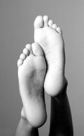A pair of lady's feet