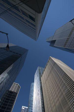 Skyscrapers viewed from below Stok Fotoğraf