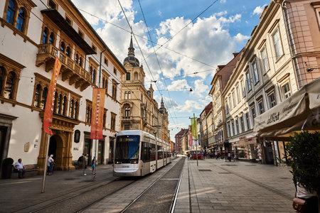 Street in City Graz Steiermark