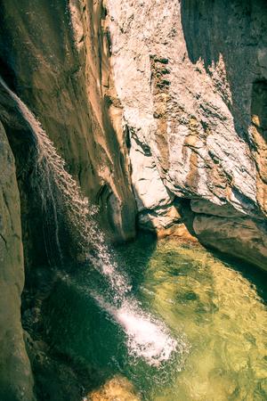 Austria tourist attraction. styria waterfalls Bärenschützklamm