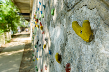 Graz, Styria  Austria - 09 12 2016: Climbing wall next to Mur river in graz city Editorial