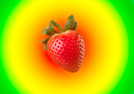 Strawberry on colorful background isolated