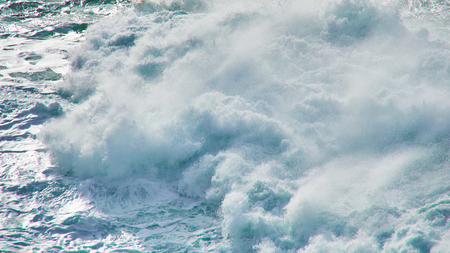 Ocean wave at irish coast in county Clare. Close up