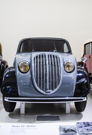 Vienna, Austria 10.01.2015 : Steyr 55 Baby classic car. Museum of Technology exhibit. Place to visit.