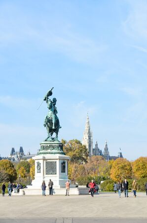 Historic monuments of Vienna city in Austria. Tourist city in Europe 報道画像