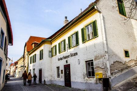View at narrow street in Durnstein