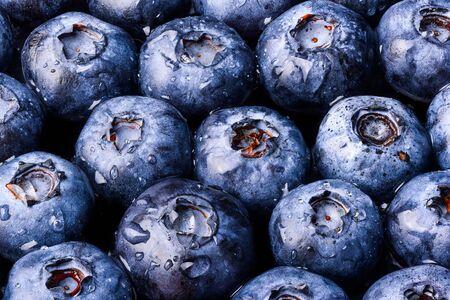 Blueberry's macro closeup many berry's black background
