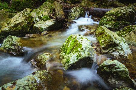 Autumn at Kesselfallklamm waterfalls in Semriach region Graz, Styria. Hiking spot for recreation. Imagens