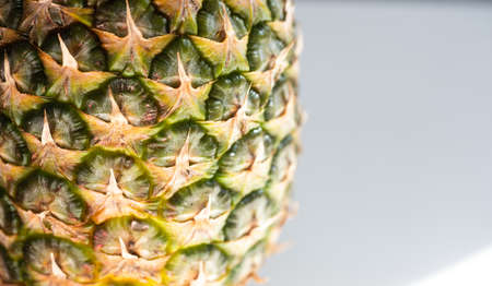pineapple closeup with copy space on right Stock Photo