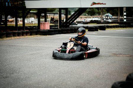 Khao Yai, Thailand - 13 Dec 2016: Kart Racing at Khao Yai Speedkart
