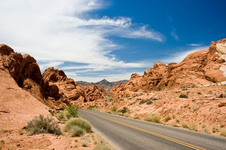 The Long And Winding Road, Valley of fire, Nevada USA