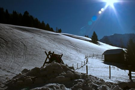 rauris: Sunny winter afternoon in the austrian alps