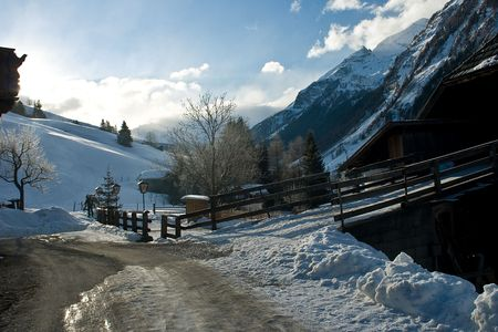 rauris: A winter morning in the austrian alps