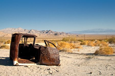 Morning in the Mojave Desert near Twentynine Palms Stock Photo - 6483652