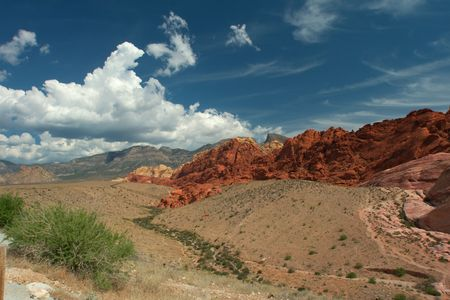 Scenic view, Red Rock Canyon State Park, Nevada, USA Stock Photo - 6483640