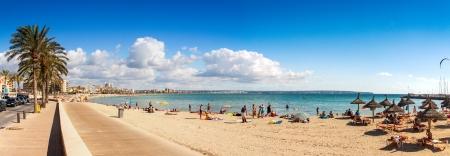 プラヤ ・ デ ・ パルマ ビーチ、マヨルカ島、バレアレス諸島、スペイン 写真素材