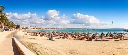 palma: Platja de Palma Beach, Mallorca, Balearic Islands, Spain