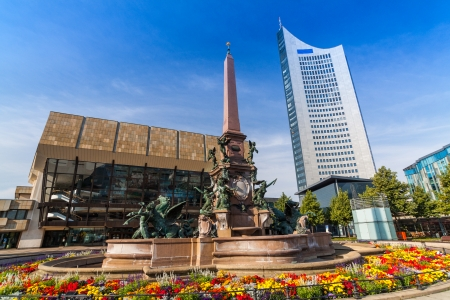 the place of interest: Augustusplatz, City of Leipzig, Saxony, Germany Stock Photo