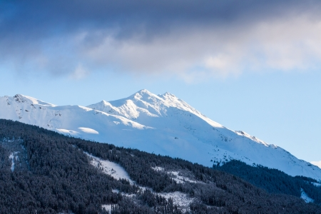 Austrian Alps near Kitzbuehel in winter photo