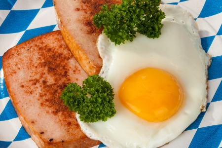 meat loaf: Bavarian type of meat loaf with fried egg