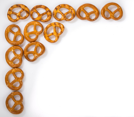 Bavarian Pretzels arranged in a corner photo