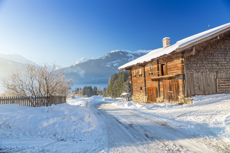 Austrian Winter, Alps near Kitzbuehel, Hollersbach, Resterhoehe photo