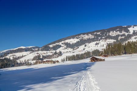 wildkogel austria: Austrian Winter, Alps near Kitzbuehel, Hollersbach, Resterhoehe
