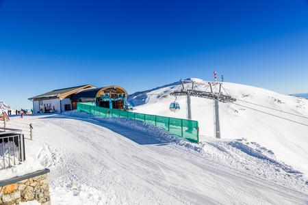 wildkogel austria: Austrian Winter, Alps in Neukirchen and Bramberg near Kitzbuehel, Wildkogel