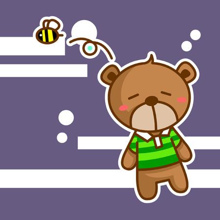 작은 만화 곰