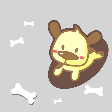 dog run: little puppy