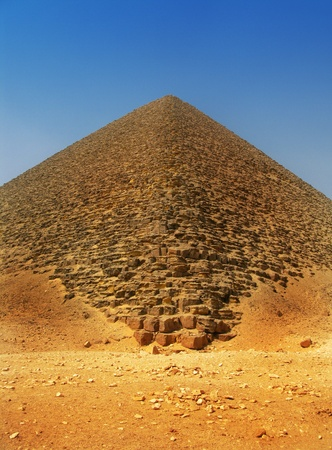 Red pyramid of King Sneferu at Dahshur, Cairo, Egypt