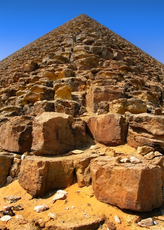 Red pyramid of King Sneferu at Dahshur, Cairo, Egypt  photo