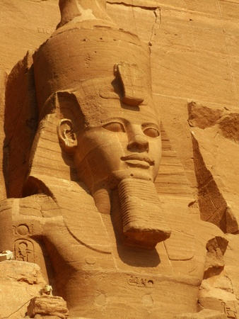 The magnificent Temple of Pharaoh Ramses II in Abu Simbel, Egypt photo