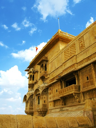 Jaisalmer, the magnificent Golden City in the heart of Rajasthan (India), surrounded by the desert of Thar. photo