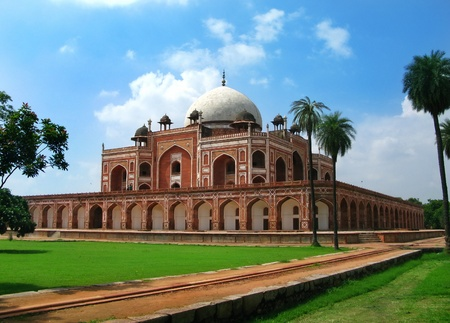 monument in india: New Delhi: Humayuns Tomb. India.