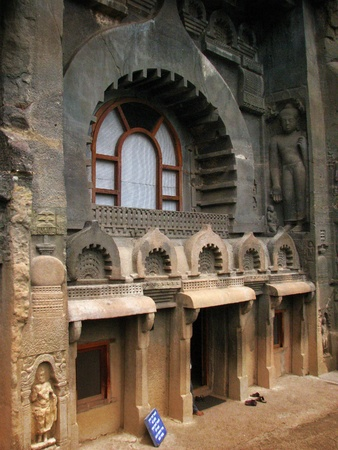 2nd century: Ajanta Caves, India: amazing site of ancient buddhist temples, carved in the rock as large caves. Started 2nd century BC.