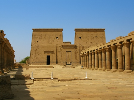 Aswan, Egypt  The amazing Temple of Isis at Philae island in Lake Nasser  Located at 11 km of Aswan, Egypt photo