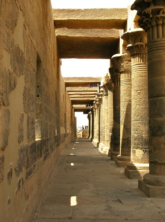 pyramid egypt: Aswan, Egypt  The amazing Temple of Isis at Philae island in Lake Nasser  Located at 11 km of Aswan, Egypt
