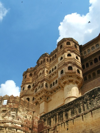 rajput: Jodhpur, India: the great Mehrangarh Fort in Jodhpur - the Blue City, in the heart of Rajasthan.