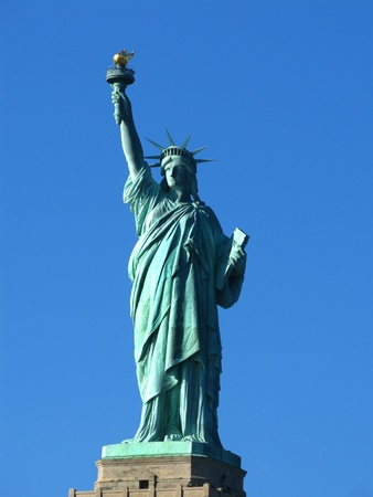 New York  The Statue of Liberty, an American symbol  Liberty Island, New York City, USA photo
