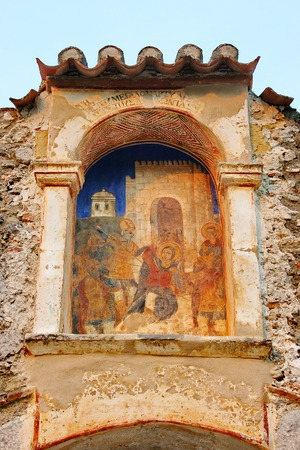 Medieval byzantine fortress of Mystras  UNESCO World heritage , near to historical city of Sparta  Greece