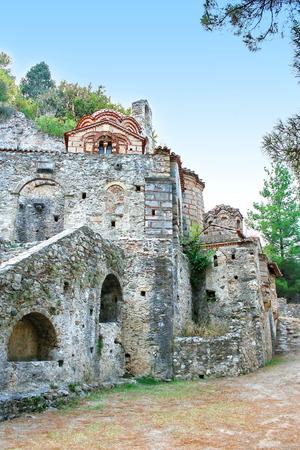 Peribleptos Monastery, at the medieval byzantine fortress of Mystras  UNESCO World heritage , near to historical city of Sparta  Greece