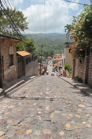 Small town of Copan Ruinas, Honduras, where the famous Mayan archaeological site of Copan is located
