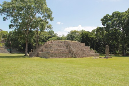 Pyramid named \Structure 4\ at the ancient Mayan archaelogical site of Copan, in Honduras, one of the most important cities of mayan civilization.