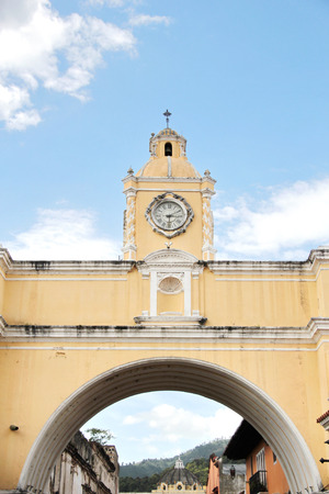 Antigua, Guatemala:  Arch of Santa Catalina, an icon of the city. Antigua was the former colonial capital of Guatemala, and was damaged in 1776 by a big earthquake.