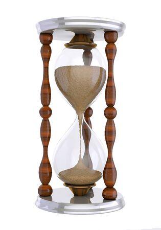 3d render, 3d illustrations. Old hourglass Reklamní fotografie