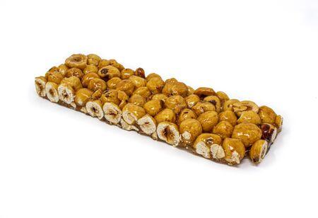 hazelnut crunchy on a white background Reklamní fotografie