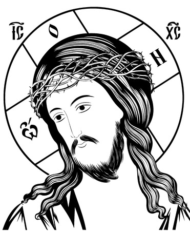 jesus passion-Religious Icon isolated over white background. 免版税图像 - 51225163