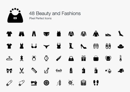 48: 48 Beauty and Fashions Pixel Perfect Icons
